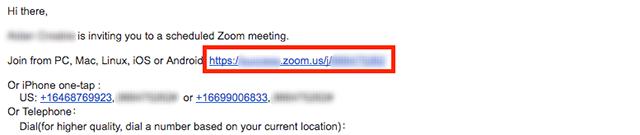 Cách tham gia cuộc họp trên Zoom từ Email