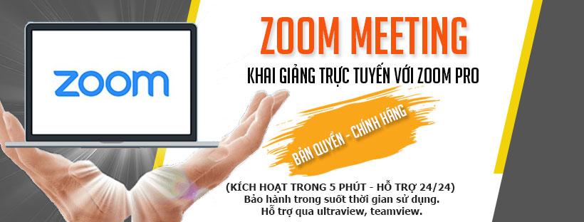 Hướng dẫn cách mua zoom cho khai giảng trực tuyến
