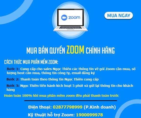Hướng dẫn cách mua zoom