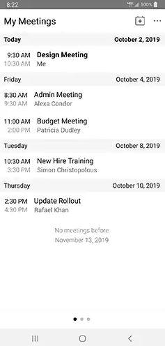 Xem các cuộc họp từ ứng dụng cuộc họp Webex