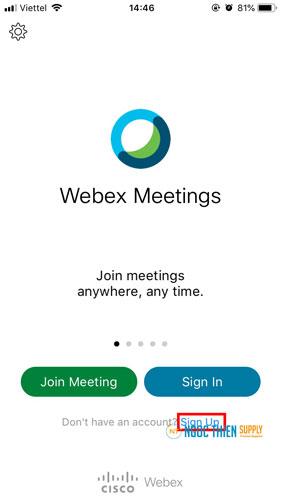 Cách sử dụng Webex Meeting trên điện thoại