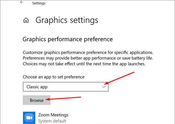 Chỉ định Zoom chạy trên GPU mạnh nhất