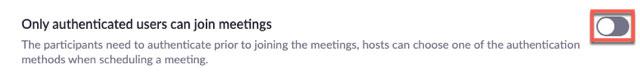 xác thực profile người tham dự cuộc họp trên Zoom