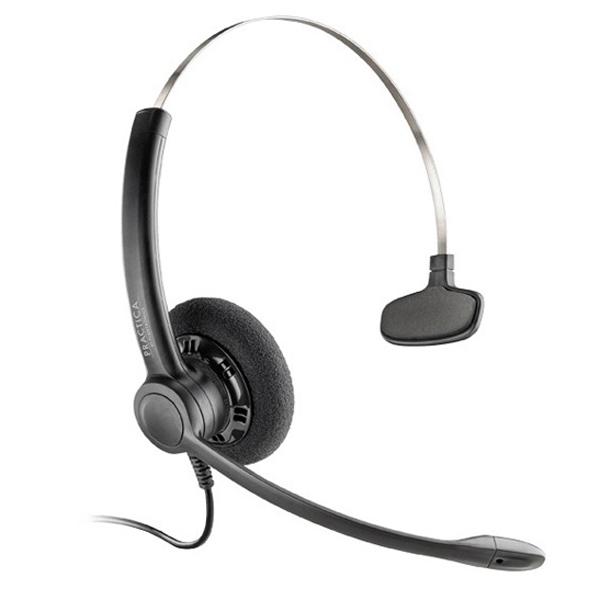 Tai nghe Plantronics (Ploy) Practica SP11 UC USB-A là tai nghe chụp tai một bên, trang bị cổng kết nối USB-A và tương thích với tất cả các nền tảng truyền thông hợp nhất. Plantronics SP11 sở hữu thiết kế siêu nhẹ, bền, đem lại cảm giác thoải mái khi sử dụng cùng chất lượng âm thanh vượt trội.