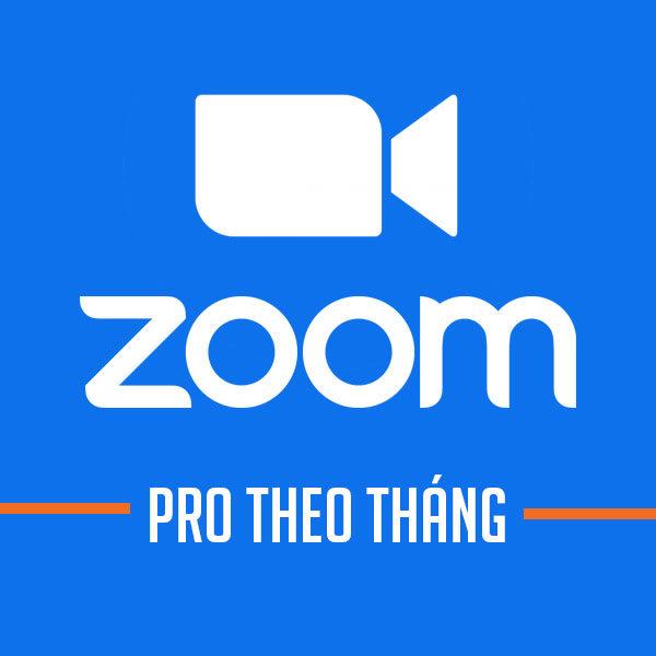 Phần mềm họp hội nghị Zoom Pro [Theo tháng]