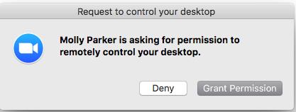 Sử dụng công cụ hỗ trợ từ xa trên Zoom trên Mac