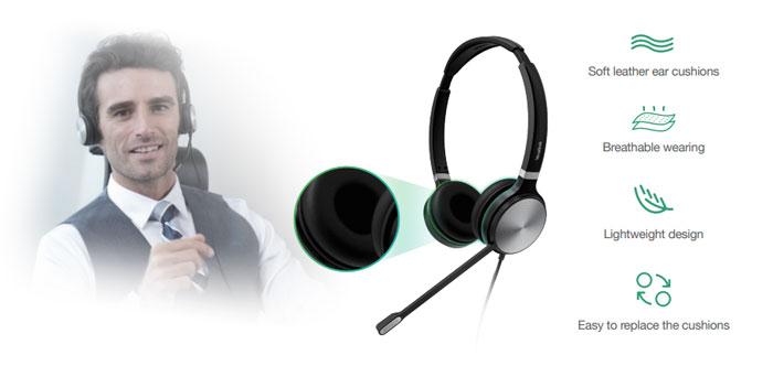 Yealink UH36 cũng đảm bảo sự riêng tư với thiết kế cách âm, không để âm thanh lọt ra ngoài