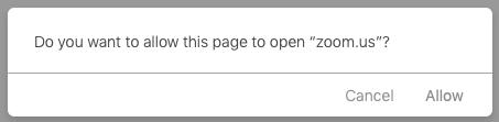 Tùy thuộc vào trình duyệt web mặc định của bạn, bạn có thể được nhắc mở Zoom.