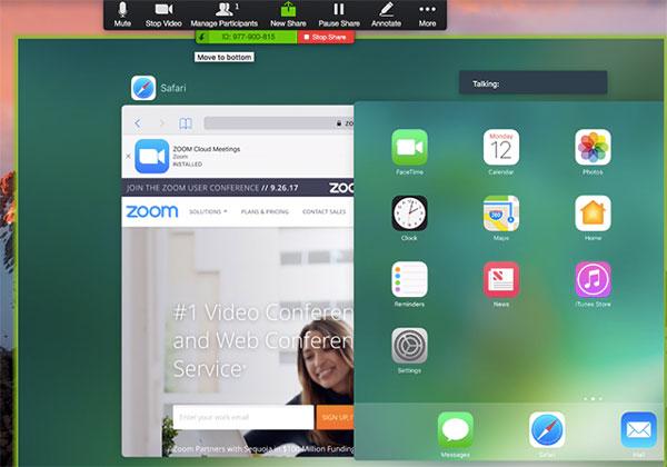 Hướng dẫn chia sẻ màn hình thiết bị iOS bằng cáp trên Zoom