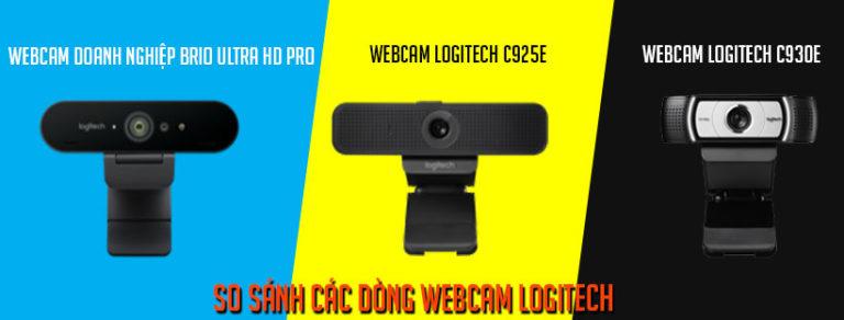 So sánh các dòng webcam Logitech