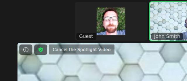 Nhấp vàoCancel the Spotlight Video ở góc t