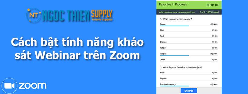 Cách bật tính năng khảo sát Webinar trên Zoom