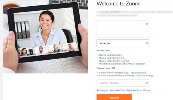 Sau khi click vào nút Active your Zoom Account. Quý khách sẽ được chuyển đến trang kích hoạt tài khoản Zoom bằng trình duyệt