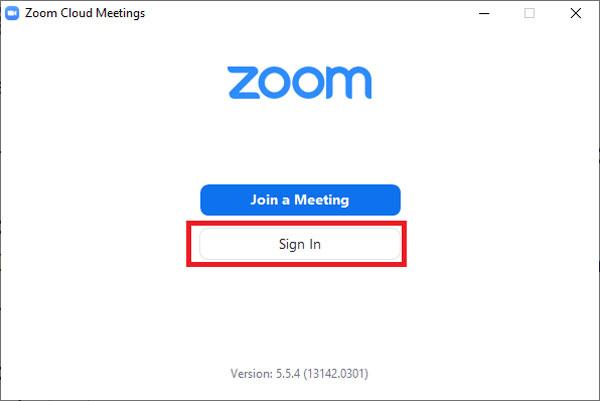 Lỗi Zoom báo sai mật khẩu