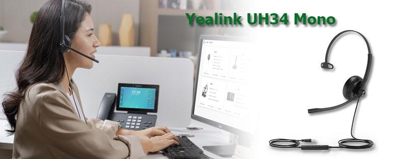 Tai nghe usb Yealink UH34 Mono: Tại sao tổng đài viên nên chọn?