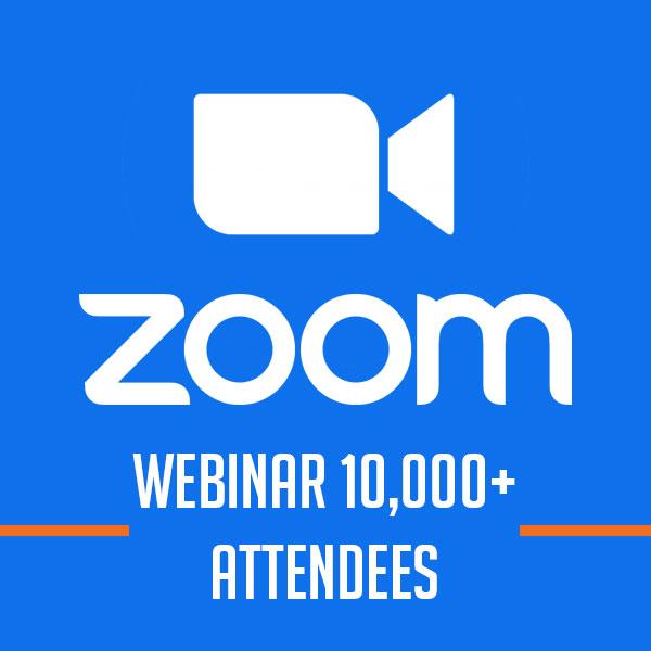 Zoom Webinar 10000+ Attendees [1 năm]