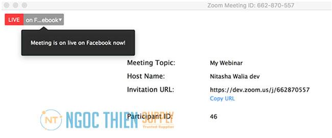 Cách bắt đầu livestream Zoom lên Facebook