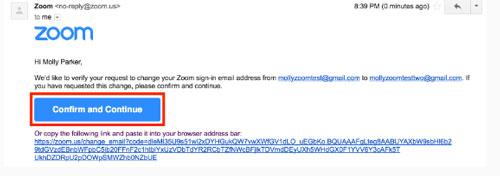 Nhấp vào Confirm Change để kết thúc quá trình thay đổi email.