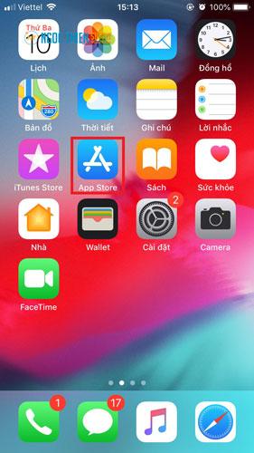 Bạn truy cập ứng dụng App Store